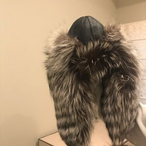Accessories - Silver fox hat